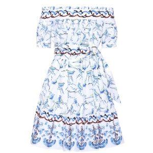 Peter Pilotto White Bird Off The Shoulder Dress